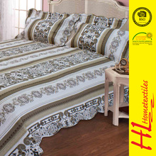 low MOQ printing down knitted fabrics waterproof bedspreads