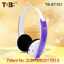 Wireless earmuff bluetooth stereo headphones / headsets with V4.1 CSR bluetooth rechargeable lithium battery TB-BT101