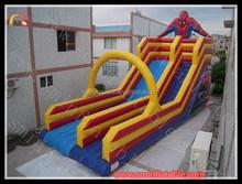 high quality inflatable spiderman slide , spiderman inflatable slide for kids