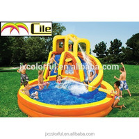 CILE 2015 Enjoyable Family Inflatable Pool Island with Slide for Entertainment