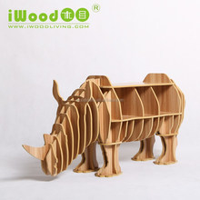 modern designs deer model wooden bookcase
