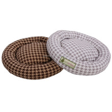 Round fleece pet cushion
