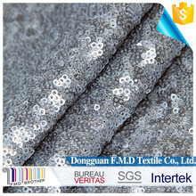 3mm silver sequins embroideried net fabric for women dress