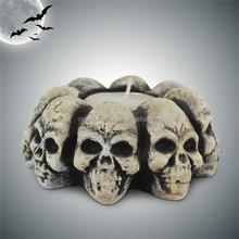 Resin Halloween skull candle holder