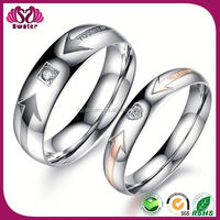 Jewelry Unique Couple Rings For Wedding Arrow Ring