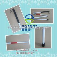 aluminum folding blind walking stick cane for Blind or visually impared people