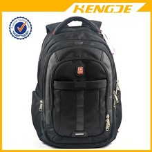 Top quality hot sell plush 1680D black business laptop backpack bag