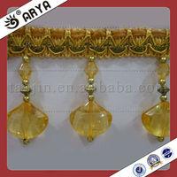 acrylic beaded fringe for curtains,lampshade beaded fringe