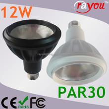 CE&RoHS 12w cob par light, g12 e27 par30 12w cob, warm white e27 led par30 for commercial lighting