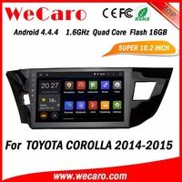 WECARO High Quality 7 Colour Changing GPS Navigation System Pure Android 4.4 Car DVD Player For Toyota Corolla 2014 2015
