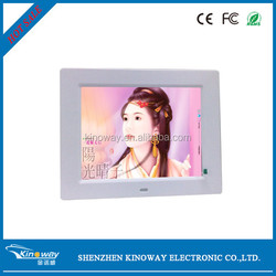 Can be connected with multimedia speakers and earphone through the audio cable provided 8 inch Digital LCD digital photo frame