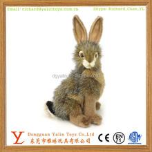 ICTI factory direct sale lifelike plush stuffed toy rabbit for Easter Day meet EN71&ASTM&3C standard
