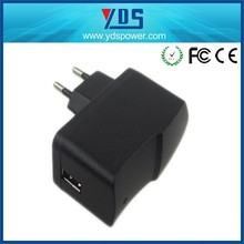 12W 12V 1A EU Power Jack Plug Wall Mount Universal Travel Electric Adapter with CE FCC ROHS