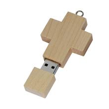 free shipping flash usb wooden crossing usb flash drive usb stick 3.0 2.0 best selling 2014