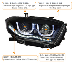 High quality and good performance LED car HID auto head lamp used for Toyota Highlander 2009-2011