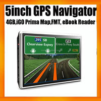 """Wince 6.0 MTK 800MHZ MSB2531 GPS Navigation with 5"""" HD LCD display and map"""