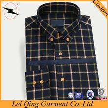 Wholesale plaid flannel men shirt blouse designs 2015