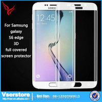 wholesale price mobile phone glass screen protector for Samsung galaxy 3D full covered tempered glass for Samsung galaxy S6 edge