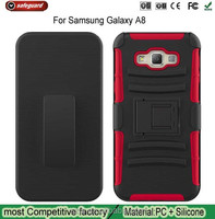 Hot selling shockproof kickstand hard phone case for Samsung Galaxy A8 Is sandwiched Sliding cover