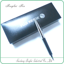 Best metal leather ball pen packed by pu case or paper box leather pen set