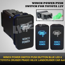 Carling Style 12V Blue Led Toyota Push Switch WINCH POWER on/off for Hilux, Landcruiser, Prado, cruiser 4x4