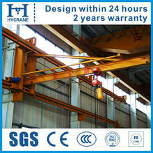 Hot selling 1ton wall travelling slewing crane
