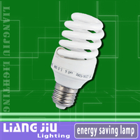15W Full spiral e27 lamp holder T3 Energy Saver Bulbs