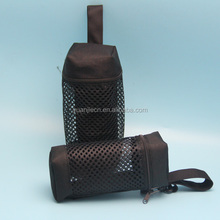 New style black canvas mesh cup bag for travel with zipper from packing products supplier