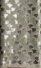 double organza lace handcut & color sequins top quality