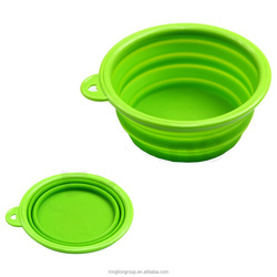 Prima Pet Expandable / Collapsible Silicone Food & Water Travel Bowl with Clip for Medium & Large Dog, Portable