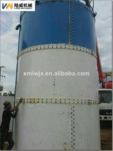 70m3 dikey silos construido fuera de placas de acero corrugado