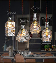 Four sets contracted and contemporary personality droplight combination glass light cafe restaurant