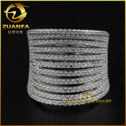 wholesale solid silver 925 cz micro pave jewellery