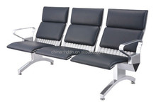 Quality PU Price Stainless Steel 3 door Waiting Chair/Airport Seating/Public Chair