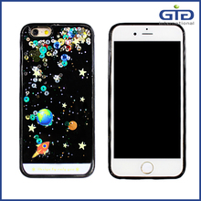 Bling 3D Moving Liquid Glitter Star Case for iPhone 6s Soft Frame