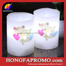Hot Selling Cheap Led Art Custom Candles with Cute Logo