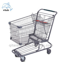 American style collapsible foldable wheeled trolley shopping cart
