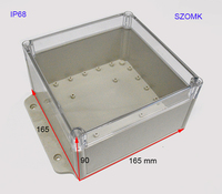 DIY outlet waterproof junction box enclosure for electric and electronics power with clear cover and wall hangers IP68