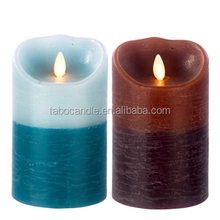 Moving wick flameless led candle, a pair, battery operated