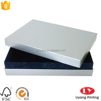 wholesale customized lid and base white plain printed cardboard Shoe boxes