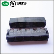 8PIN RJ45 1x5 ports Jack side entry unshielded type