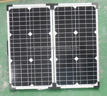 hot sale portable PV solar panel with bosch cells 2*40w