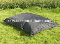 black outdoor buggle up beanbag sitting chair