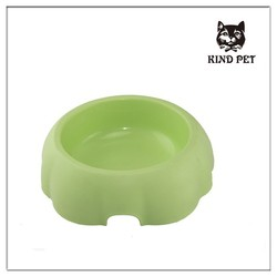 2015 best desing pet products wholesale high quality plastic dog bowl green color