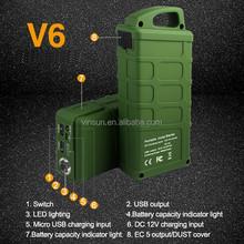 Army Boots Green Vinsun V6 Jump Starter, All Start Boost, Jump Starter with Mini Pump