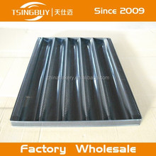 Corrugated 4-12 ducts aluminum open waves french bread baking trays 460*720mm