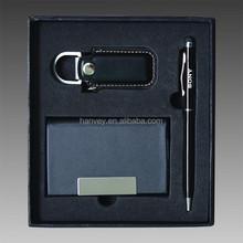 Gift pen set with business card holder for gift, promotional gift pen set
