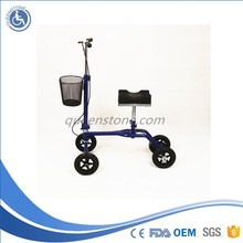 2015 newest steerable knee walker with removeable basket and adjustab handle for walking aid for injury surgery or the disable