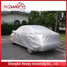 Silver Polyester Car Cover/car protective shelter super quality