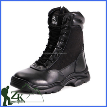 top quality lace up rubber sole winer warm fur safet army combat low heel half boots with zipper